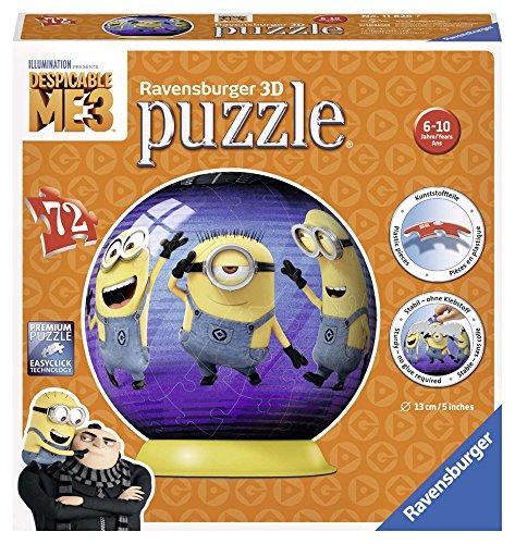 Ravensburger Minions Puzzle Ball 3D 72 Pieces, GRU, My Favorite Villano 11826