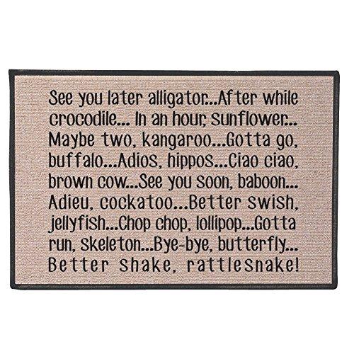 best bags Fußmatte You Shall not Passe, Teppich-Eingangs-Teppich, Tür-Welcome-Matte, hergestellt aus natürlichen Kokosfasern, perfekt für Liebhaber des Herr der Ringe, 59,9 x 39,9 x 2,5 cm