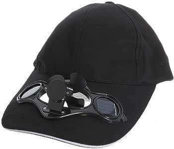Nrpfell schwarz Solar Luft Fan Baseball Ventilator Muetze Fuer Camping Reisen