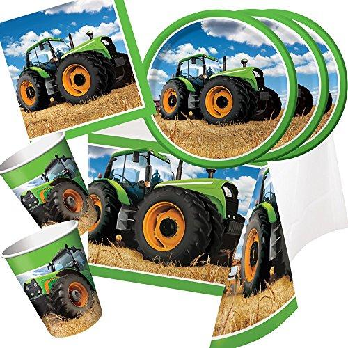 33-teiliges Party-Set Traktor - Teller Becher Servietten Tischdecke für 8 Kinder / - Traktor-becher