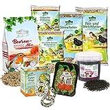 Dehner Natura Wildvogelfutter Futterbuffet Maxi, Streufutter und Snacks, 8-teilig
