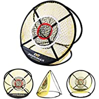 "PodiuMax portátil Golf Chipping Net, 24 ""Pop Up Red de montaje con tres objetivos, formación Hitting ayuda para uso en interior y exterior, ideal para corto precisión práctica, color negro y amarillo"