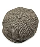 Los hombres del estilo Newsboy 8piezas soporte de Cap gorro de lana de espiga multicolor 4 Talla...