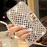 for iPhone 7 Plus Case for iPhone 8 Plus Case , LAPOPNUT Luxury Bling Jewelry Diamond PU Leather Flip Case Sparkly Crystal Rhinestone Case with Magnetic 3D Bowknot Buckle Card Slot Stand Wallet Cover Skin for iPhone 7 Plus Case for iPhone 8 Plus