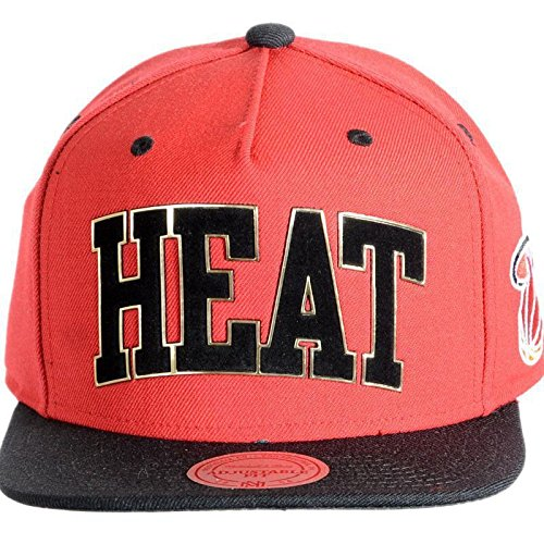 Mitchell And Ness - Casquette Snapback Homme Miami Heat Sonar Snapback - Red