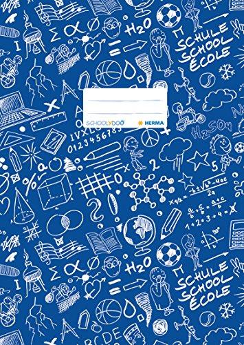 """Preisvergleich Produktbild Herma 19404 Heftumschlag DIN A4 """"SCHOOLYDOO"""", gemustert, 1 Stück, blau"""
