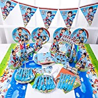 90pcs set PAW Patrol Theme Party Disposable Tableware Set Decoration Supplies Christmas table cloth set For Kids Favor Birthday Decoration Props