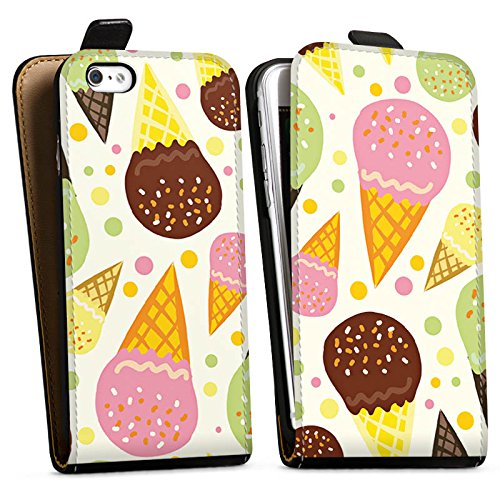 Apple iPhone X Silikon Hülle Case Schutzhülle I love Icecream! Sommer Grafik Downflip Tasche schwarz