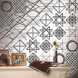 JY ART Wandkunst Kreativ Geometrische Linien europäischer Stil Fliesen-Aufkleber Küche Runderneuerung PVC Wasserdicht Hohe Temperaturbeständigkeit Selbstklebende Tapete, 20cm*5m
