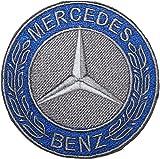 Mercedes Benz Logo Badge gesticktes Patch 5,1cm Aufnäher oder zum Aufbügeln