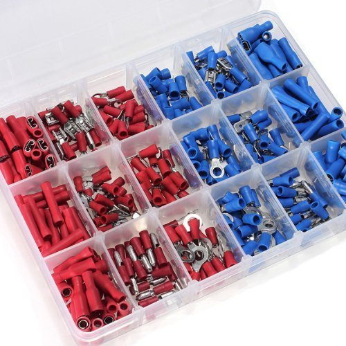 280pcs Crimp Spade Terminal Assorted Insulated Electrical Wire Connector Kit Set