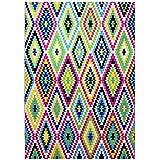 wecon Home Alfombra Fresh Kelim WH de 0651–01, multicolour, 133 x 200 cm