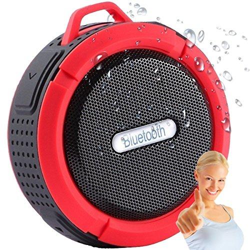 Altavoz Bluetooth para la ducha o actividades en exterior, Inalámbrico Impermeable de 5W de potencia con Micrófono y Manos Libres, 6 HORAS de batería, llévatelo donde quieras BT v4.2 de 2017