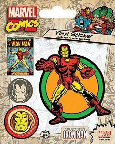 The Iron Man Retro pegatinas 10 x 12,5 cm