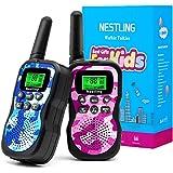Nestling Walkie Talkie para niños, Camuflaje al Aire Libre, 8 Canales, Radio de 2 vías, Juguetes, Linterna LCD retroiluminada