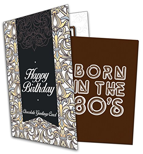 Born in the 80s Happy Birthday Chocolate Greetings Card