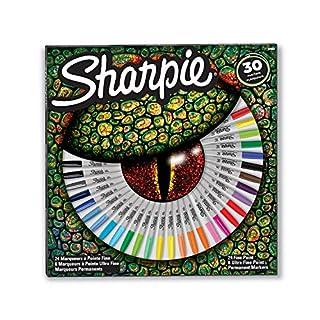 Sharpie Permanentmarkerset, exklusive Farben, feine und ultrafeine Spitzen, 30Stück