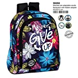 Montichelvo Backpack A.O. CG Never Give Up Cartable, 43 cm, Multicolore (Multicolour)
