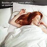 BedStory [Nouvelle Version] Oreillers Lot de 2 60x60, Oreiller Medium 60x60 avec Garnissage 3D Fibre Polyester, Gonflants et