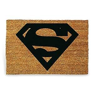HC-Handel 923252Zerbino Superman in Fibra di Cocco 60x 40cm Natura/Nero