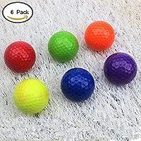 crestgolf seis colores pelotas de golf pelotas de golf, campo, pack de 6