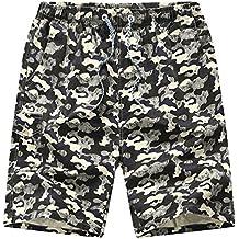 Sronjn Hombres Verano Camuflaje Cortos de Boardshorts Militar Pantalones Cortos de Surf de Playa