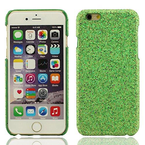 Apple iPhone 7 Plus 5.5 inch Coque Protection Case, Spécial Texture Coloré Serie Diverses Couleurs Mince Poids Léger Briller Luxe Joli Dur Housse de protection vert