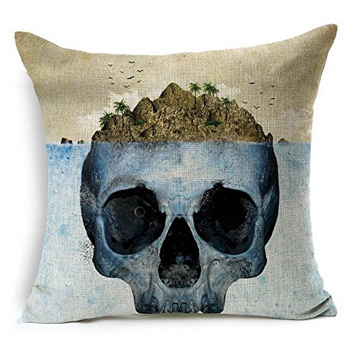 Levionlinesale No.1518 Skull Island type Pillow Cover Decorative Pillows For Sofa