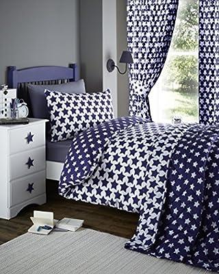 Etoile, Blue Star Junior Bedding - cheap UK light shop.