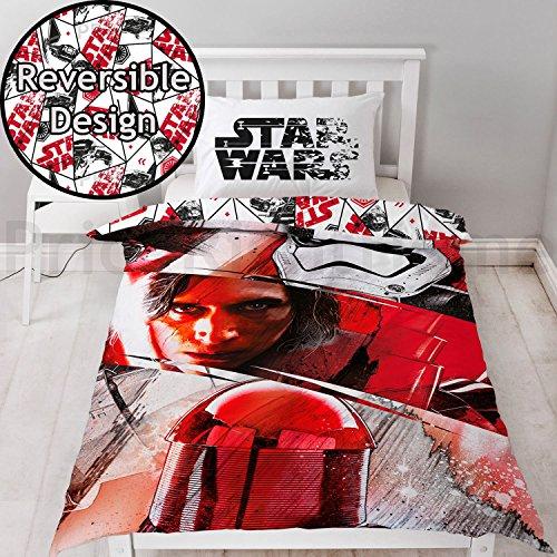 Star Wars Bettbezug mit passendem Kissen Fall, Polyester-, rot, Single