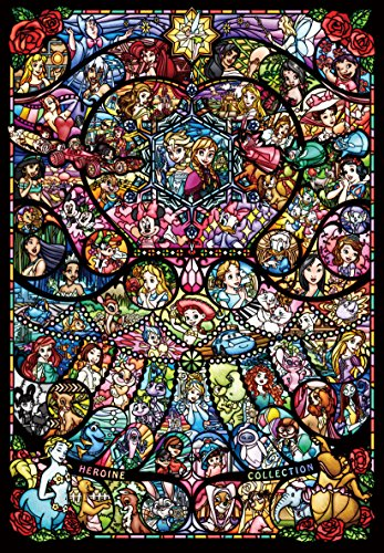 1000 Stück Puzzle Disney & Disney Pixar Heroine Collection Buntglas [Pure White] (51 x 73,5 cm) (Film Jessica Rabbit)
