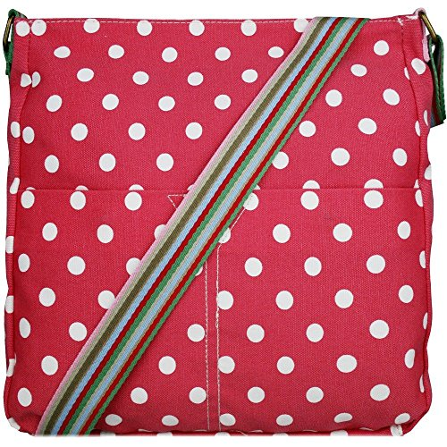 Sac en toile pour fille Motif Papillons, fleurs et pois - Polka Dots Pink