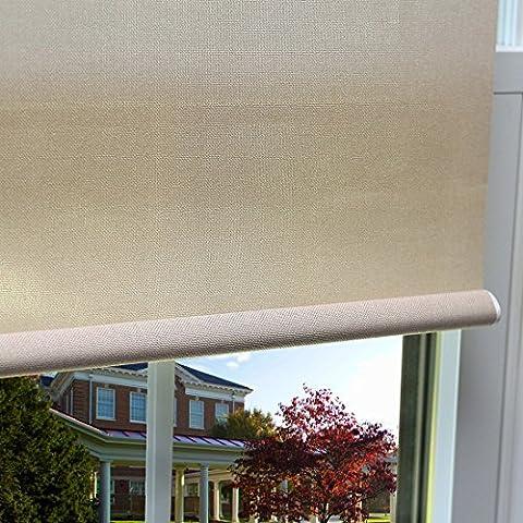 Zhihong Premium Aspect lin Roller Window Shade Rideau, gris, 28