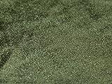 Uni Samt Velours Kleid Stoff Olive Grün–Meterware