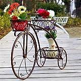 ZENGAI Eisen-Blumen-Racks Fahrrad Mehrstöckige Bonsai-Rahmen European - Style Floor - Stil Creative Balkon Pflanze/Topf Rahmen Wohnzimmer Blumentopf Rack (Farbe : B, größe : 83cm)