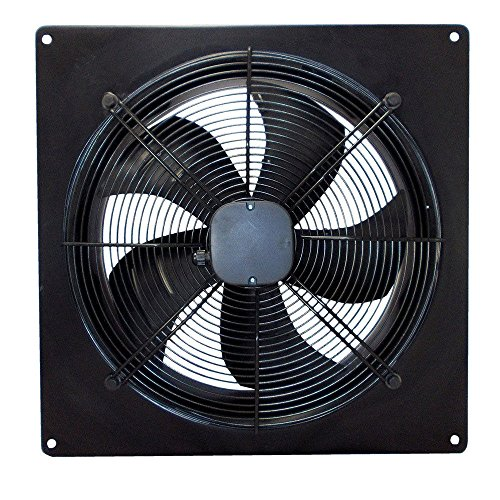 Industrielle Abluftventilator (Airtech industriellen Abluftventilator Ventilator Auspuff Leistungsstark Low Noise für Lager Restaurant Garage Küche 250mm (2 pole))
