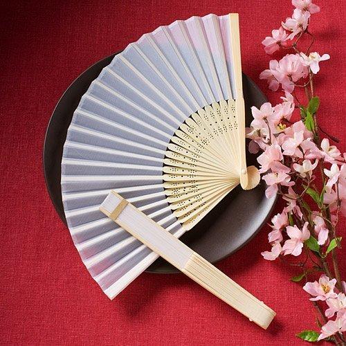 Elegant silk fans favors [SET OF 48] by FashionCraft Wedding Favors