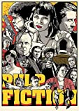 Pulp Fiction Poster Movie Adesivi murali Decorazione soggiorno Carta bianca patinata Stampe 42 cm x 30 cm grigio chiaro