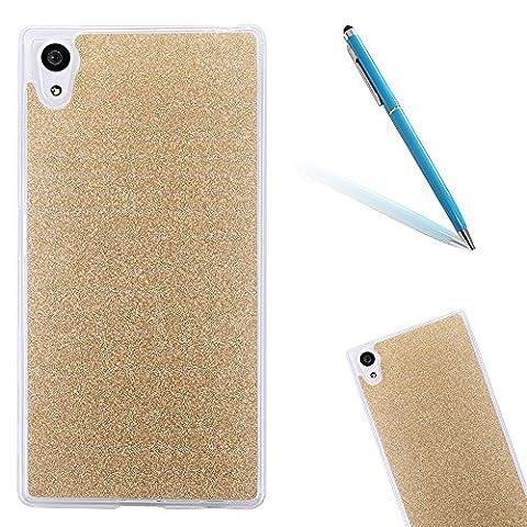 Sony Xperia XA Ultra Hülle, Sony Xperia XA Ultra Handytasche, CLTPY Premium Glitzerfolie Glitter Skin Cover, Dünne Matt Transparent Weich Silikon Schale Etui für 6.0