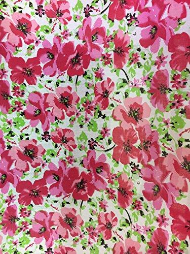 Baumwolle-poly-stoff (Gold Floral Gemustert Poly Baumwolle Kleid Stoffe)