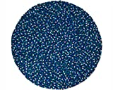 Sajita: rund Kinder Ocean Blue Filzkugelteppich,Filz Wolle aus Neuseeland (100cm / 3' 3'')