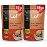 Lo! Low Carb Delights - Keto Almond Cookies | Only 0.5G Net Carb Per Cookie | Lab Tested Keto Food Products for Keto…