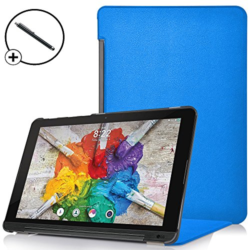 Forefront Cases® LG G Pad X II 10.1 Hülle Schutzhülle Tasche Case Cover Stand - Ultra Dünn & Leicht mit R&um-Geräteschutz - inkl. Eingabestift (HELL BLAU)