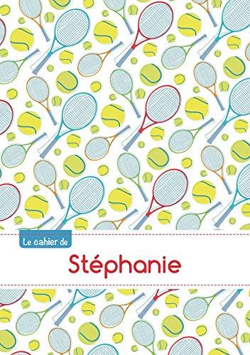 CAHIER STEPHANIE BLANC,96P,A5 TENNIS