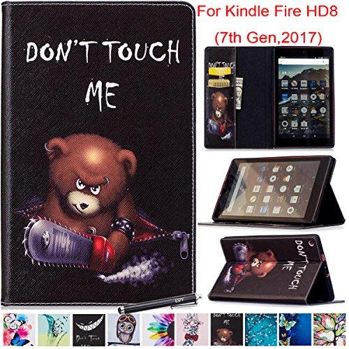 newshine Schutzhülle für Fire HD 82017, Trifold Smart Ständer Schutzhülle Auto Sleep/Wake Für Alle Neuen Amazon Kindle Fire HD 8Tablet (7. Generation, 2017Release) & Zurück 6. Gen. 2016Version
