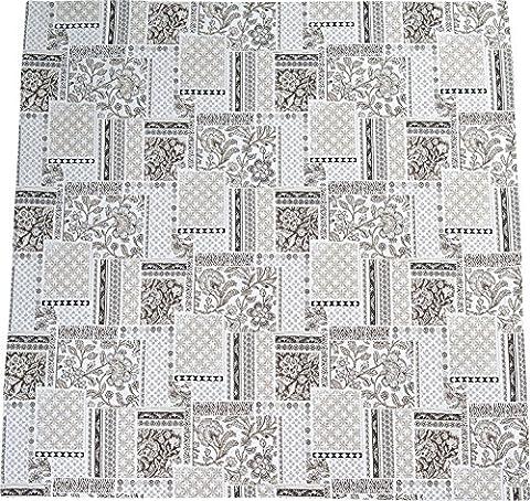 Sander square tablecloth damask ecru size 140x140 cm