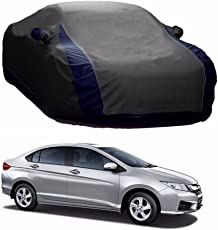 HOLME'S Lively Water Resistant Car Body Cover for Honda City (Grey & Blue - V Shape)