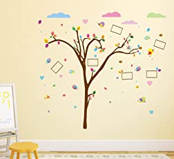 Amazon Brand - Solimo Wall Sticker for Kid's Room (Happy Moments, Ideal Size on Wall - 150 cm x 142 cm)