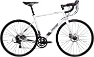REID Unisex Adult Vantage Endurance 1.0 Gloss 54.5 Road Bike - White, 130 x 40 x 20