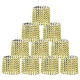 SwirlColor Set von 10 Bling Strass Serviettenringe (Golden)